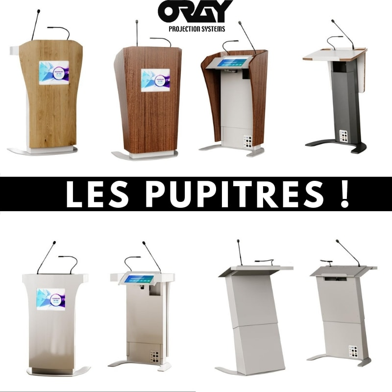 Les pupitres Awarts - Oray Projection Systems