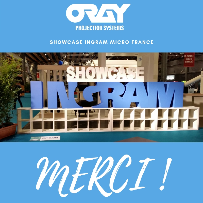 Oray Projection Systems au Showcase Ingram Micro France