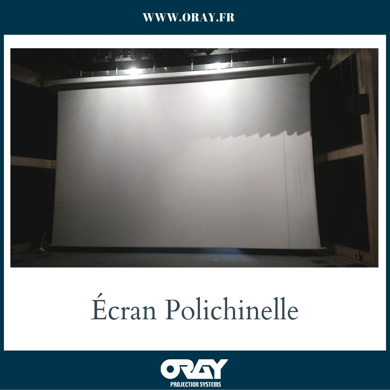 Ecran de projection Polichinelle au Polydome Clermont Ferrand - oray Projection Systems