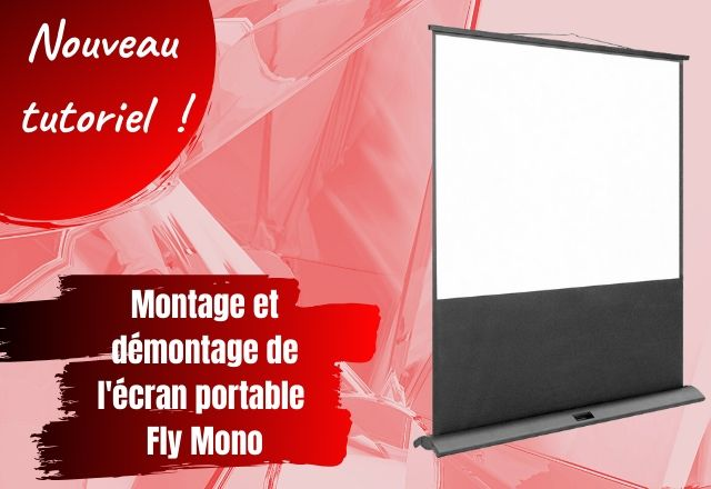 Montage et démontage de l'écran portable Fly Mono - ORAY Projection Systems