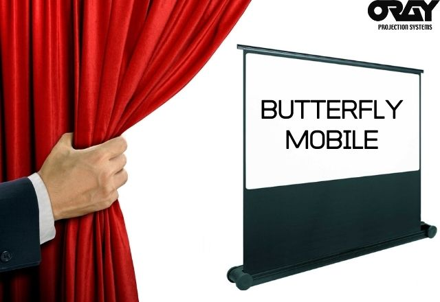 The BUTTERFLY MOBILE screen