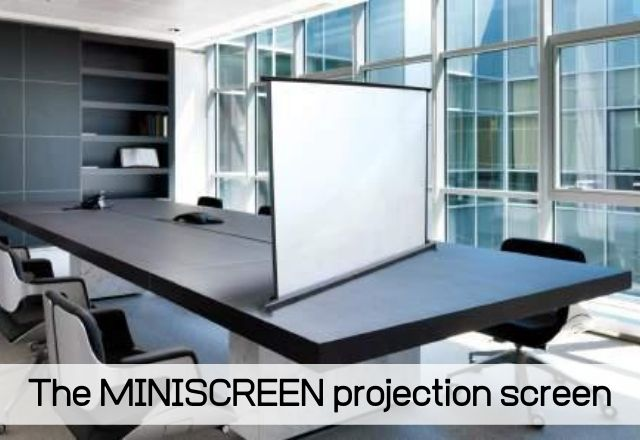 The MINISCREEN projection screen Specially developed for pico projectors